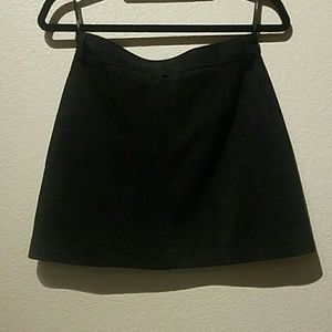 Forever 21 Skirts - Forever 21 M Black Skirt Front Silver Zipper